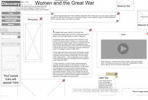 Discover the first world war - women and the great war
